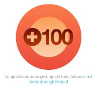 100 followers badge