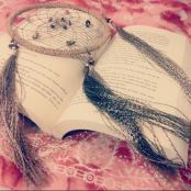dreamcatcher and book