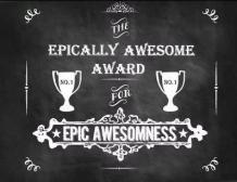 Epic awesomeness award