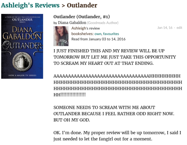 outlander reaction