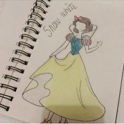 snow white pencil