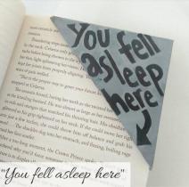 bookmark - fell asleep