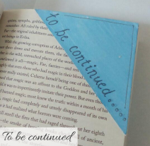 bookmark - to be continued