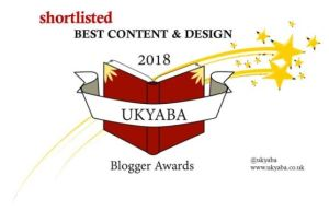 Shortlisted for the Best Content and Design award in the UKYABA's Blogger Award 2018. Redirects to the UKYABA website