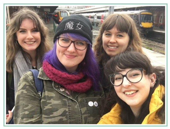 Four book bloggers/booktubers smiling