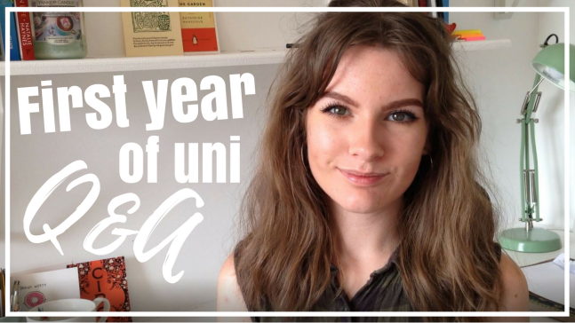 Booktube video thumbnail for my first year university Q&A studying literature - image links to the video