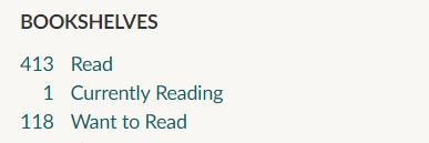 Screenshot of Goodreads TBR shelf