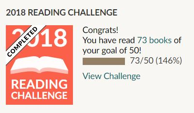 2018 Goodreads Challenge - 73/50 books read