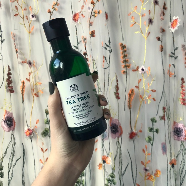 Tea Tree facial wash from The Body Shop